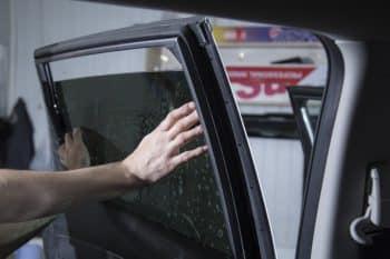 Tinting of car windows.